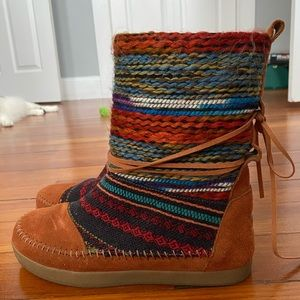 Toms Knit Moccasin Boots